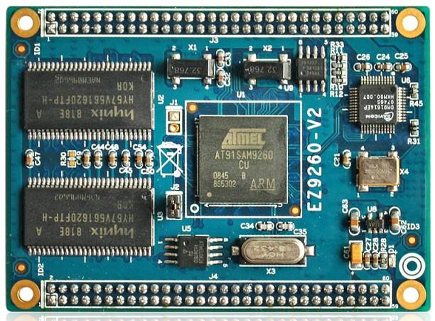 供应信息 集成电路/ic atmel at91sam9260核心板arm9工业核心板  采用