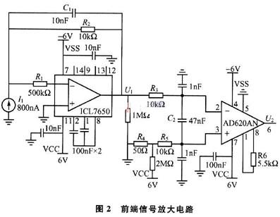 r1为 icl7650的限流保护电阻.